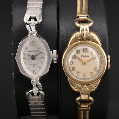 Two Vintage American Stem Wind Wristwatches