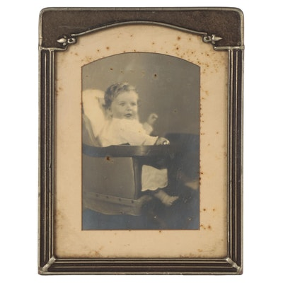 Silver Print Portrait of Child, Late 19th Century