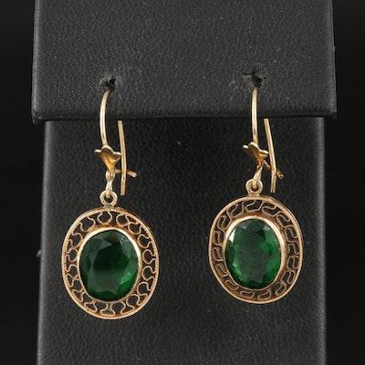 14K Wirework Drop Earrings