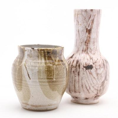 Israeli Ceramic Vase with Signed Art Pottery Vase