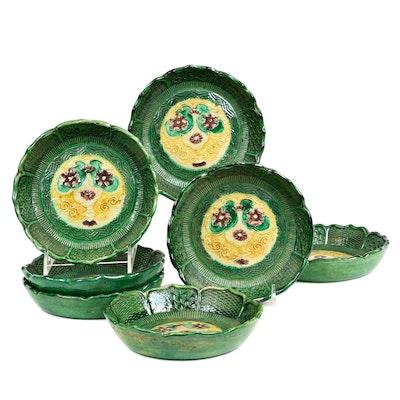 Southern China Shallow Sancai Glazed Bowls