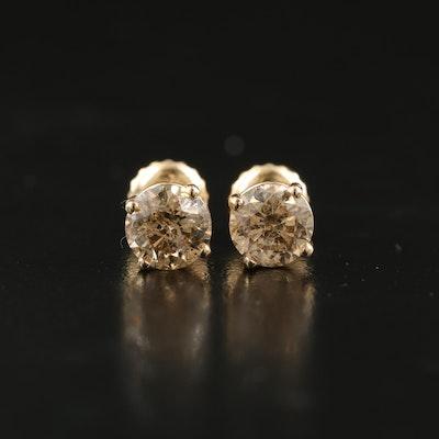 14K 1.40 CTW Diamond Earrings