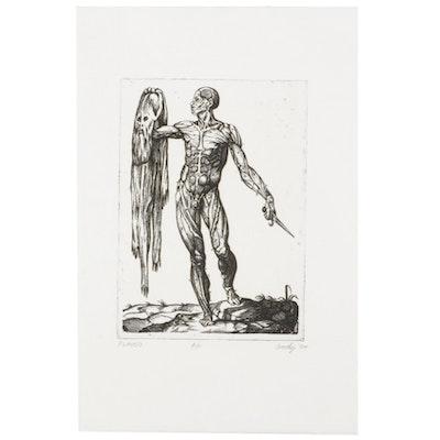 "Andy Hudson Anatomical Etching ""Flayed,"" 1994"