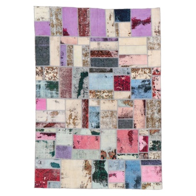 6'4 x 9'3 Handmade Persian Patchwork Area Rug