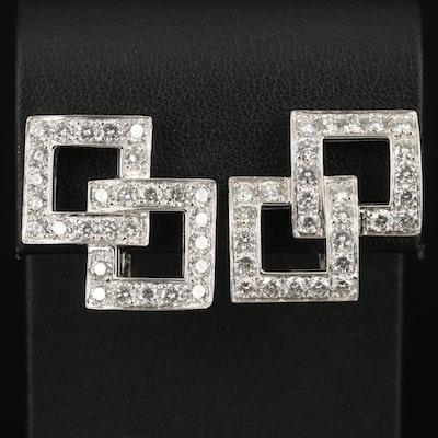 18K 4.50 CTW Diamond Earrings