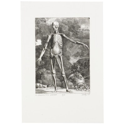 "Andy Hudson Etching After Jan Wandelaar ""A. Wandelar's Garden,"" 1999"