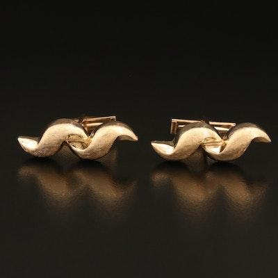 14K Gold Abstract Cufflinks