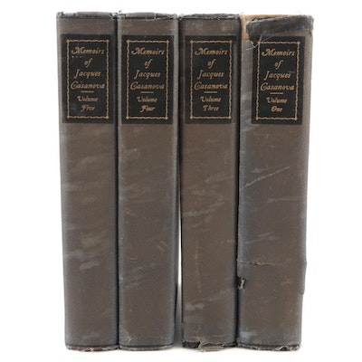 """Limited Edition """"Memoirs of Casanova"""" Four-Volume Collection, c. 1894"""