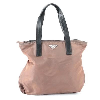 Prada Small Tote Bag in Tessuto Nylon and Leather