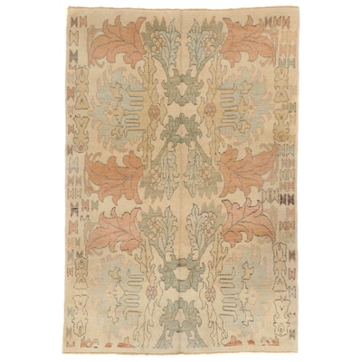 7' x 10'6 Hand-Knotted Turkish Donegal Area Rug