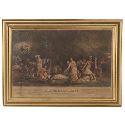 """Sarony, Major & Knapp Chromolithograph After R. Peale """"The Court of Death"""""""