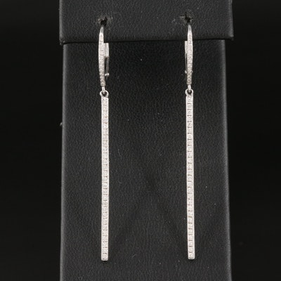Shy Creation 14K 0.47 CTW Diamond Hoop Drop Earrings