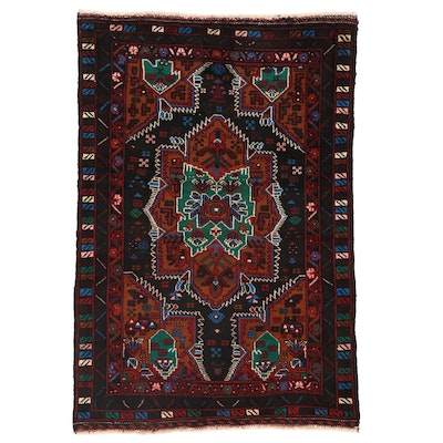 2'9 x 4'1 Hand-Knotted Persian Baluch Accent Rug