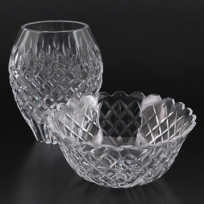 Waterford Crystal Vase and Centerpiece Bowl