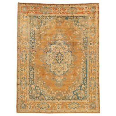 8' x 10'10  Hand-Knotted Persian Kashan Area Rug