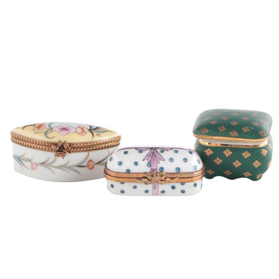 La Seynie and Other Porcelain Limoges Boxes