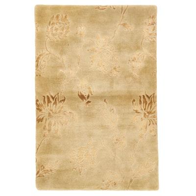 3'10 x 5'11 Hand-Knotted Tibetan Style Art Silk Area Rug