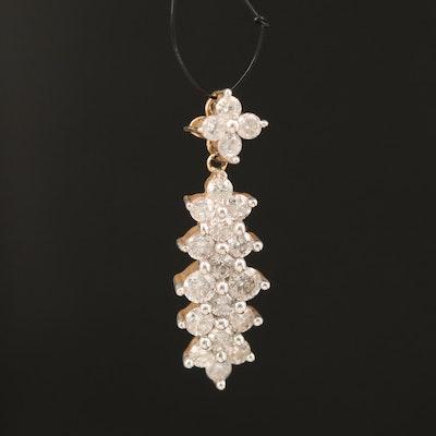 14K 0.74 CTW Diamond Pendant