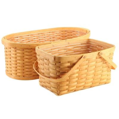 Longaberger Handwoven Maple Wood Baskets, 2002