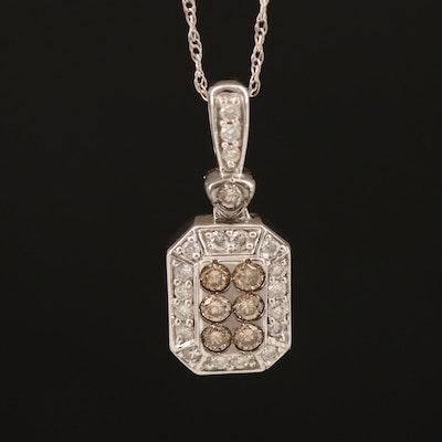 14K 0.37 CTW Diamond Pendant Necklace