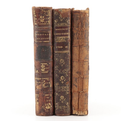 """French Language """"Méditations"""" and More Religious Books, Mid-18th Century"""