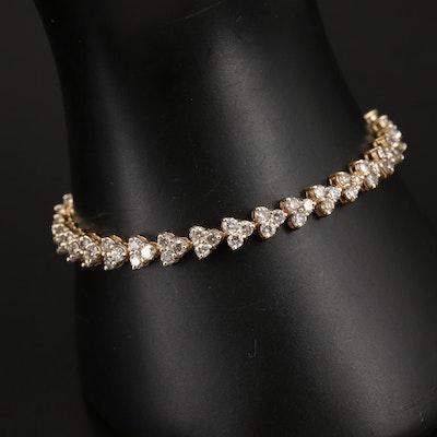 14K 5.94 CTW Diamond Bracelet