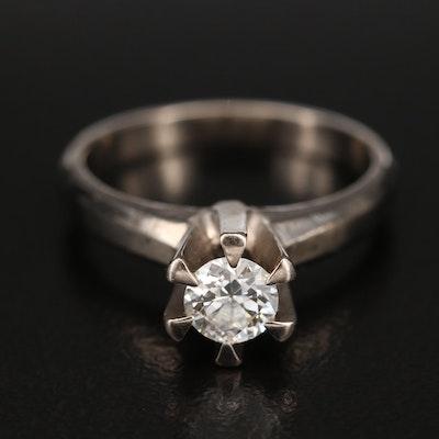 10K 0.41 CT Diamond Solitaire Ring