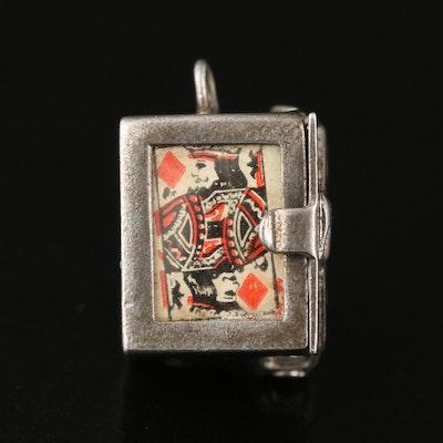 Vintage Sterling Enamel Deck of Cards Charm