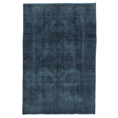 6'6 x 9'10 Hand-Knotted Persian Overdyed Area Rug