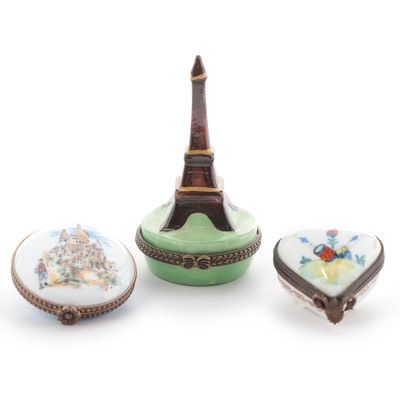 Ancienne Manufacture Royale, Limoges Castel, and Other Porcelain Trinket Boxes