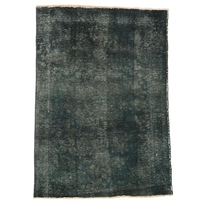 3'3 x 4'8 Hand-Knotted Persian Overdyed Accent Rug