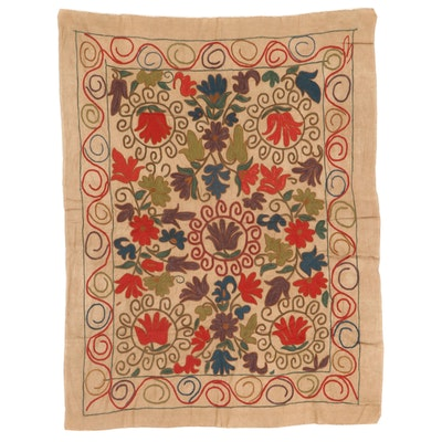 Handmade Central Asian Embroidered Suzani Style Wall Hanging