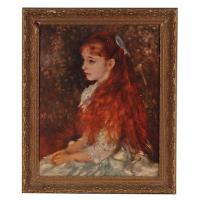 "Offset Lithograph After Pierre-Auguste Renoir ""Little Irène"""