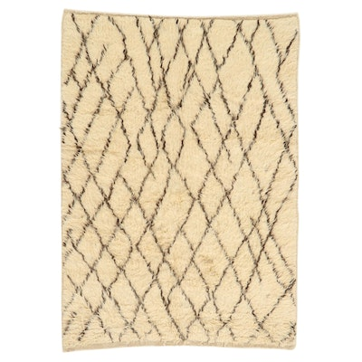 4'6 x 6'8 Hand-Knotted Moroccan Shag Area Rug