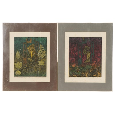 Mercedes Naveiro Etching With Aquatint From Paradise Series, 1988