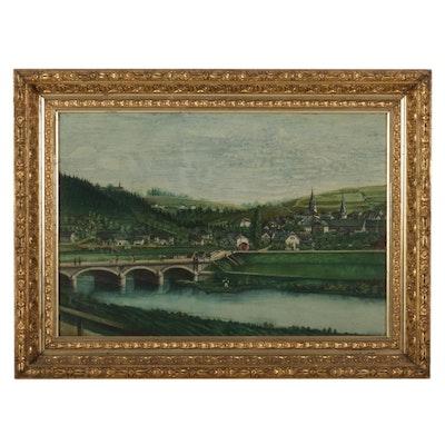 Pennsylvania Landscape Oil Painting, 19th Century