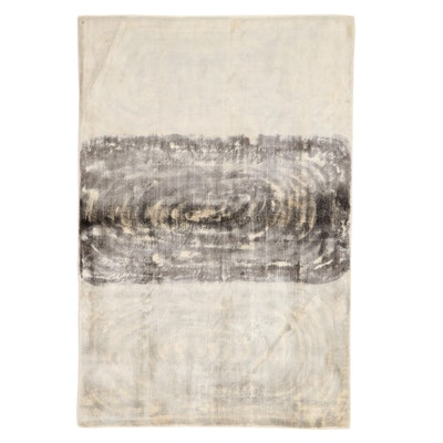 3'11 x 5'11 Hand-Knotted Art Silk Area Rug