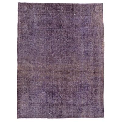 9'11 x 13'7 Hand-Knotted Persian Overdyed Room Size Rug