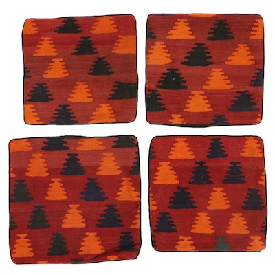 Handwoven Afghan Kilim Face Accent Pillow Covers