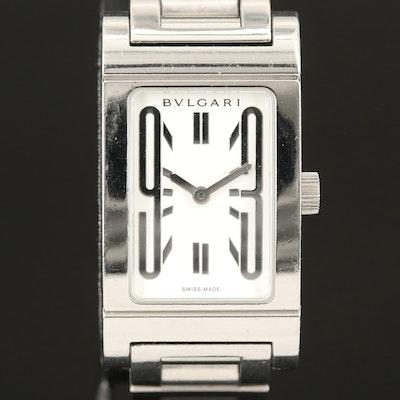 Bvlgari Rettangolo Stainless Steel Wristwatch
