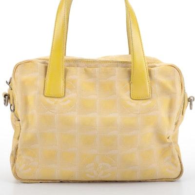 Chanel Travel Line Yellow Nylon and Leather Handbag