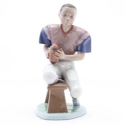 "Lladró ""Football Star"" Porcelain Figurine Designed by Joan Coderch, 1990s"