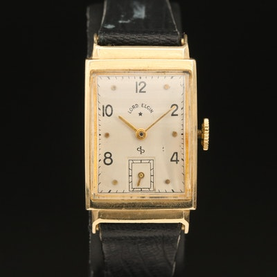 14K Lord Elgin Stem Wind Wristwatch