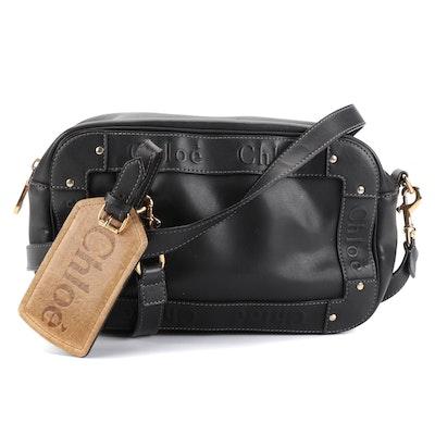 Chloé Studded Black Leather Crossbody Bag