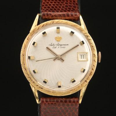 18K Jules Jurgensen Swiss Wristwatch
