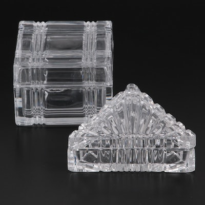 Square and Triangular Glass Candy Boxes
