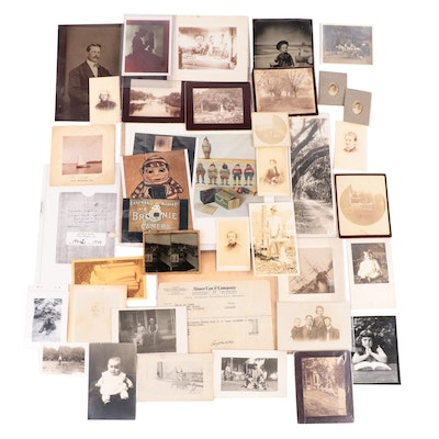 Individual and Family Portrait Tintypes, Cabinet Cards and Other Photographs