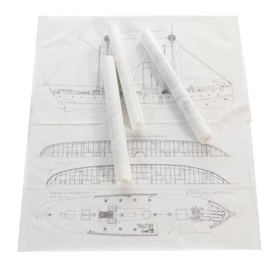 Robert Cairo Pen & Ink Drawings for U.S. Navy, Circa 1974