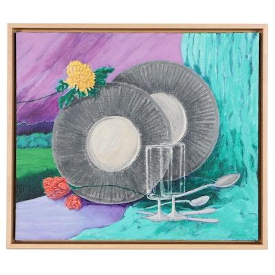 "Elsie Kay Harris Acrylic Painting ""Illusions"""