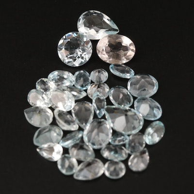 Loose 27.55 CTW Mixed Faceted Sky Blue Topaz